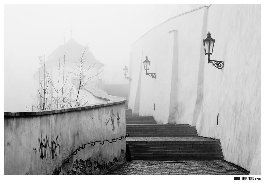 fotografie Prague castle stairs