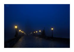 fotografie Charles bridge in night 2