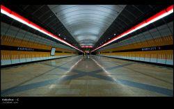 fotografie Kobylisy, Prague metro