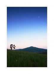 fotografie Photographer on hill