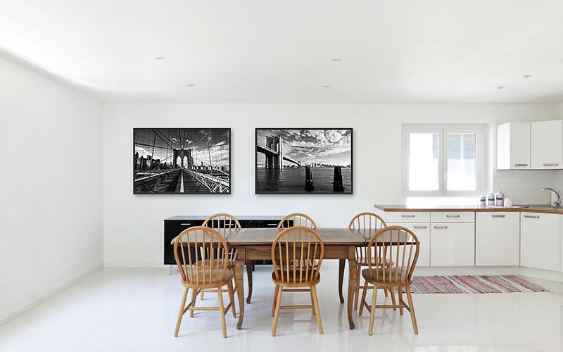 Fotografický obraz v kuchyni