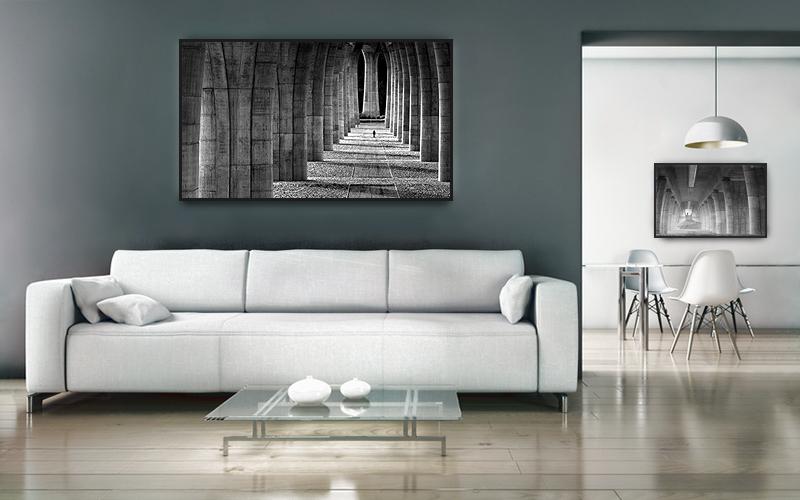 Fotografický obraz v pokoji